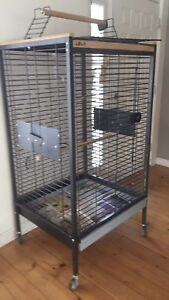 Large bird cage for Grey, Cockatoo or larger parrot.