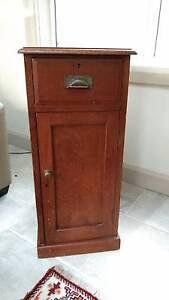 Sturdy vintage wood cabinet with drawer & cupboard Rose Bay Eastern Suburbs Preview