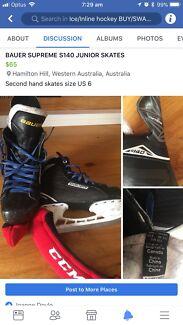 Bauer S140 ice skates youth size US 6 (ice hockey)