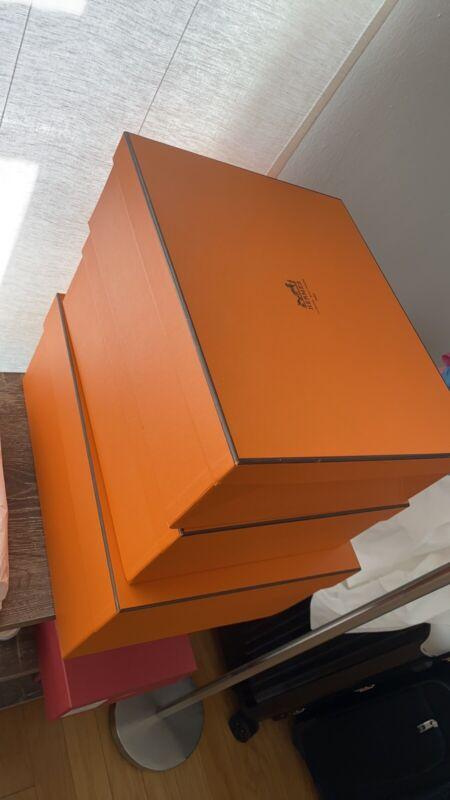 HERMES Orange Empty Original rectangle  Box