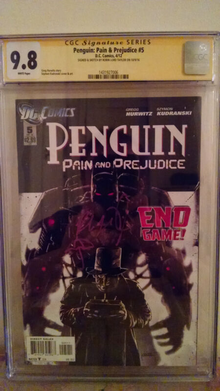 Penguin: Pain & Prejudice #5 CGC 9.8 AUTOGRAPHED by ROBIN LORD TAYLOR