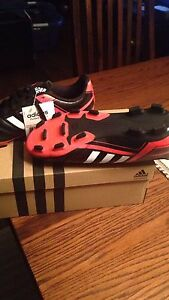 Adidas Boys Size 3 Cleats .. BNWT and box