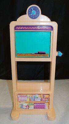 Vintage 1999 Mattel Barbie Sign Language Chalkboard w/ pencil sharpener & Clock - Barbie Pencil Sharpener