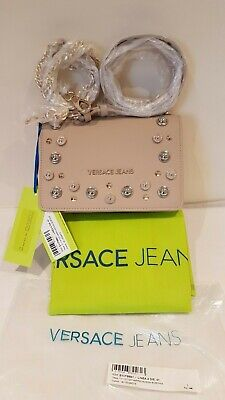 Versace Jeans Beige studded Shoulder bag E1VTBB41_71113_723