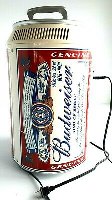 "Vintage Budweiser Cooler/Fridge beer Can Large Electric   17.5""  BAR DRINK PARTY"