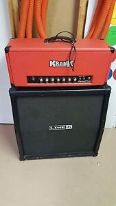 Krank Chadwick head and behringer cab for 6505/5150