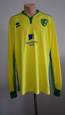 Football shirt soccer FC Norwich City Canaries Home 2016/2017 Errea Jersey Long image