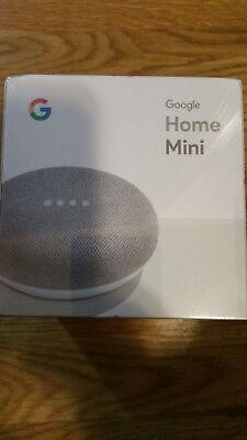 Brand New Google Home Mini Smart Small Speaker Digital Media Streamer  Chalk