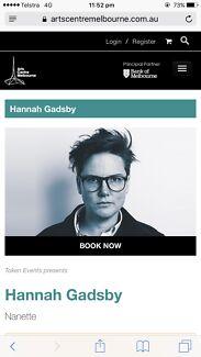 2x Hannah Gadsby tickets