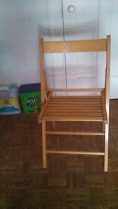 Free coffee table and folding chairs