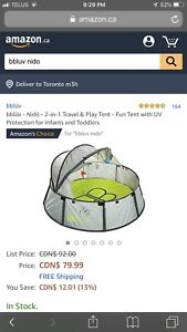 Bbluv travel and play tent (black)