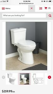 BRAND NEW 3/6L White ONE PIECE Elongated Dual Flush Toilet