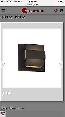 BRAND NEW WAC LIGHTING Pandora 7 Inch LED Outdoor Wall Light Bronze