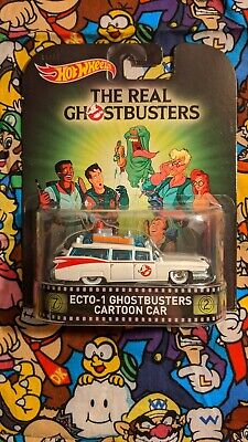 Hot Wheels 2015 Retro Entertainment The Real Ghostbusters Ecto-1 Cartoon Car Moc