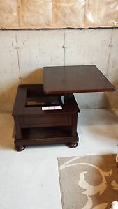 Like New Dark Oak Solid Wood Coffee and End Tables, 2 years old St. John's Newfoundland image 4
