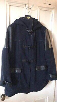 House Of Holland Navy Duffel Duffle Coat Jacket Size 18