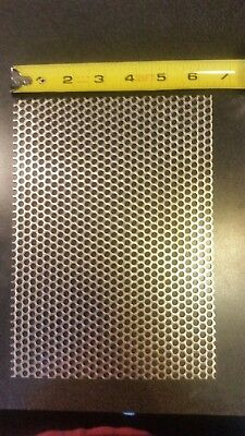 316 Holes 16 Gauge 304 Stainless Steel Perforated Sheet Approx 9 6 12