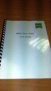 HTC ONE M8 PRINTED INSTRUCTION MANUAL USER GUIDE 198 PAGES A5