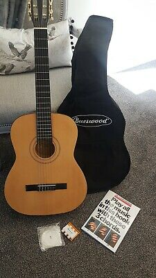 Burswood acoustic guitar  with case and song book