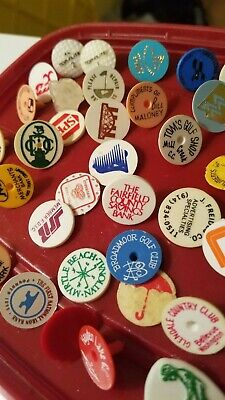 Vintage Golf Ball Markers Golf Course and Advertising Markers Lot of 61