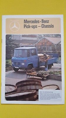 Mercedes-Benz pick-up chassis cab 407 508 D L van sales catalogue brochure MINT