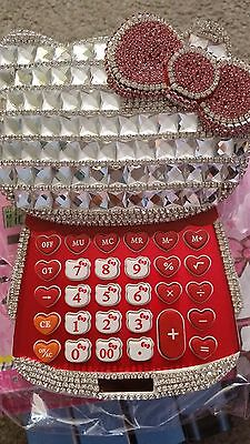 New Hello Kitty - Super Bling Bling Calculator - Red Color - Super Cute - Nib