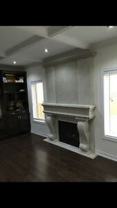 Fireplace mantels stone casted **