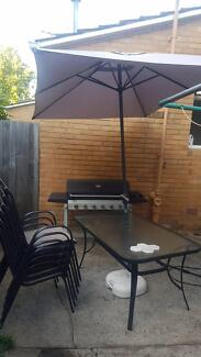 Outdoor setting and 6 burner BBQ