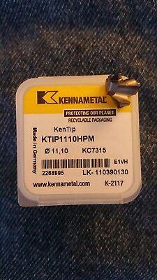 Kennametal Kentip Replaceable Drill Tip Ktip1110hpm .437 Kc7315