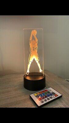 Kobe L A Lakers Nba #24 Color Change 3D LED Light Desk Lamp Figure Shooting USB