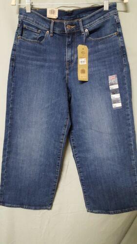 """LEVI'S Women's Blue Jeans Classic Wide Leg Crop Size 6   30"""""""