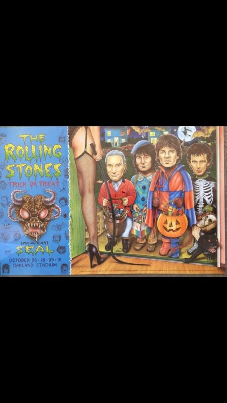 THE ROLLING STONES 1994 TRICK OR TREAT CONCERT POSTER