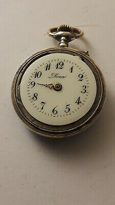 Old pocket watch Of Woman Of Silver