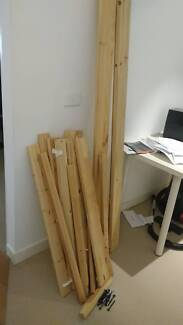 FREE Ikea single wooden bed frame FJELLSE