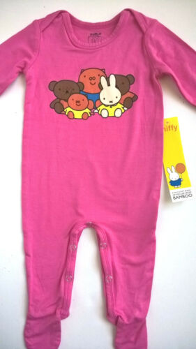 MIFFY_The_Bunny_Baby_Girl_3M_Pink_L/S_PLAYSUIT_FOOTIE_BAMBOO_Viscose-NWT