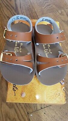 New Sun-San Salt Water Sandals,water safe Sea Wee style, tan , infant 4,NWT