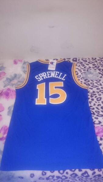c7e5aeef9 LATRELL SPREWELL!!!! Golden State Warriors Jersey BNWT!!!!