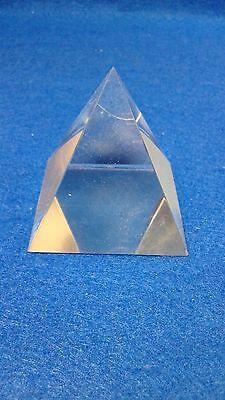 FENG SHUI, PIRAMIDE Transparente De Crystal RELIGIOUS ,GOOD LUCK, FORTUNE