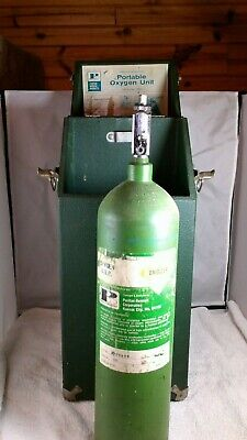 Puritan Portable Medical Oxygen Tank Apparatus W Heavy Duty Carrying Case