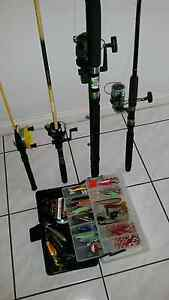 Fishing  rods  4  with reels  and  line  attached Parkwood Gold Coast City Preview