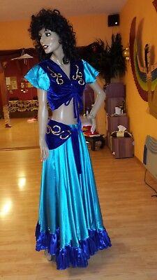 Kostüm / Bauchtänzerin / Fasching Karneval Bauchtanz Bauchtanzkostüm türkis - Bauchtänzerin Kostüm Accessoires