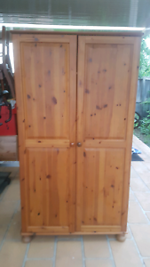 Timber wardrobe pine 2 door Beaumont Hills The Hills District Preview