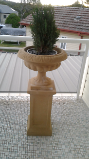 Sandstone Urn and Pedestal -