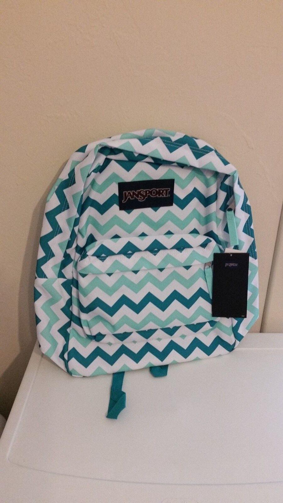 New Jansport Superbreak Backpack JS00T5010C6 Aqua Dash Zou B