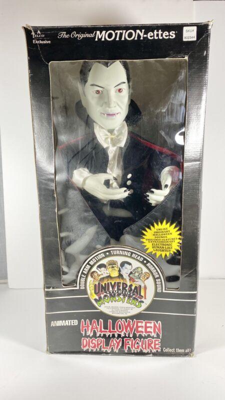 "TELCO UNIVERSAL STUDIOS MONSTERS DRACULA 22"" HALLOWEEN MOTIONETTE VAMPIRE Mint"