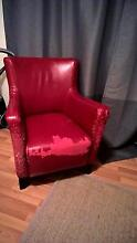 2 free leather armchairs (scratched & peeling) Coogee Eastern Suburbs Preview