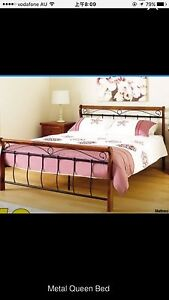Brand new queen size Pine & Iron bed frame Highgate Hill Brisbane South West Preview