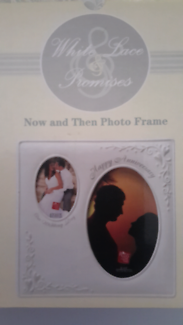 White lace and promises edition RUSS anniversary photo frame