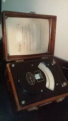 1928 Weston Acdc Ammeter Model 370 In Wooden Case. Dated June 28th 1928.