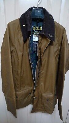 BARBOUR -A185 BEAUFORT WAX COTTON JACKET -SANDSTONE -NEW OLD STOCK - MADE@ UK-44